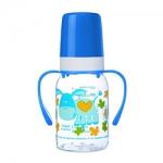 Фото Canpol Cheerful animals - Бутылочка тритановая с ручками с силиконовой соской 3+, 120 мл.
