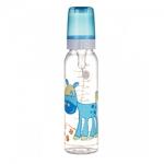 Фото Canpol Cheerful animals - Бутылочка тритановая с силиконовой соской 12+, 250 мл