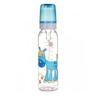 Canpol Cheerful animals - Бутылочка тритановая с силиконовой соской 12+, 250 мл