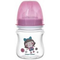Canpol PP EasyStart Toys - Бутылочка с рождения с широким горлышком антиколиковая, 120 мл