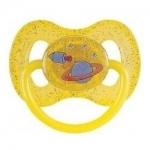 Фото Canpol Space - Пустышка круглая латексная, цвет желтый, 6-18