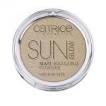 Фото CATRICE Sun Glow Matt Bronzing Powder - Пудра компактная с эффектом загара, тон 030, матирующая