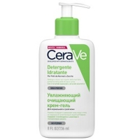 Купить CeraVe Detergente Inratante - Крем-гель очищающий для нормальной и сухой кожи лица и тела, 236 мл