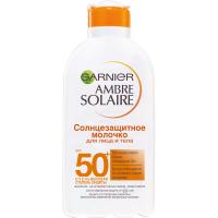 Garnier Ambre Solaire - Солнцезащитное молочко для лица и тела SPF 50+, 200 мл