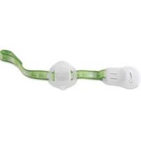 Chicco - Клипса-держатель для пустышки с футляром, зеленая