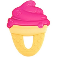 Chicco Fresh Relax - Прорезыватель-игрушка с 4-х месяцев, Мороженое, красное