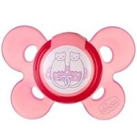 Chicco Physio Comfort - Пустышка силиконовая Котики, с 6-12 месяцев, 1 шт