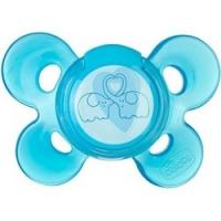 Chicco Physio Comfort - Пустышка силиконовая, Слоники, с 6-12 месяцев, 1 шт.
