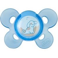 Chicco Physio Comfort - Пустышка силиконовая Собачка, с 0-6 месяцев, 1 шт