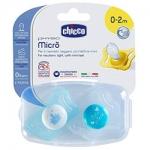 Фото Chicco Physio Micro - Пустышка силиконовая для принца от 0-2 месяцев, 2 шт