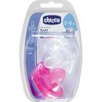 Фото Chicco Physio Soft - Пустышка силиконовая для девочек, 0-6 месяцев, 2 шт
