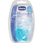 Фото Chicco Physio Soft - Пустышка силиконовая для мальчиков, 0-6 месяцев, 2 шт