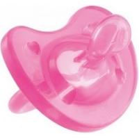 Chicco Physio Soft - Пустышка силиконовая, розовая, с 6-12 месяцев, 1 шт.