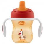 Фото Chicco Training Cup - Чашка-поильник полужесткий носик 6+, цвет красный, 200 мл