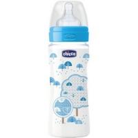 Chicco Well-Being Boy - Бутылочка с силиконовой соской с 4 месяцев, 330 мл