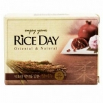 Фото Cj Lion Rice Day Soap Pomegranate, Peony - Мыло туалетное с экстрактом Граната и Пиона, 100 г.