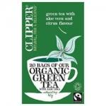 Фото Clipper - Чай Зеленый с алоэ вера Органик, 20 пакетов