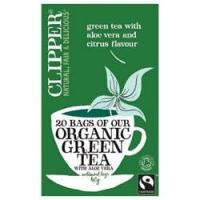 Clipper - Чай Зеленый с алоэ вера Органик, 20 пакетов