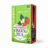Clipper - Чай Зеленый с клубникой Органик, 20 пакетов