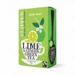 Фото Clipper - Чай Зеленый с лаймом и имбирем Органик, 20 пакетов