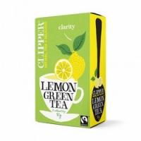 Clipper - Чай Зеленый с лимоном Органик, 20 пакетов