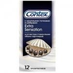 Фото Contex Extra Sensation - Презервативы с крупными точками и ребрами, 12 шт