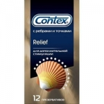 Фото Contex Relief - Презервативы ассорти из 2 видов, 12 шт