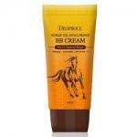 Фото Deoproce Horse Oil Hyalurone Bb Cream - Крем ББ с гиалуроновой кислотой и лошадиным жиром тон 21, 60 гр
