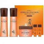 Фото Deoproce Horse Oil Hyalurone Skin Care 3 Set - Набор уходовый с гиалуроновой кислотой и лошадиным жиром