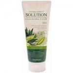 Фото Deoproce Natural Perfect Solution Cleansing Foam Green Edition Aloe - Пенка для умывания с алое, 170 г