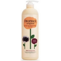Deoproce Original Shiny Care 2 In 1 Shampoo Blueberry - Шампунь-бальзам 2 в 1 черника, 1000 мл<br>