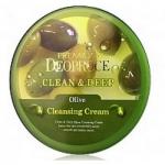 Фото Deoproce Premium Clean And Deep Olive Cleansing Cream - Крем для лица очищающий с экстрактом оливы, 300 гр