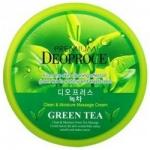 Фото Deoproce Premium Clean Moisture Green Tea Massage Cream - Крем массажный с экстрактом зеленого чая, 300 г