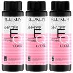 Фото Redken Shades eq Gloss - Краска-блеск без аммиака для тонирования и ухода за волосами, тон 010VG, 3*60 мл