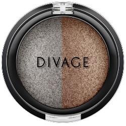 Фото Divage Colour Sphere Eye Shadow - Тени для век запеченные, двухцветные, тон 33, серо-коричневый, 3 гр