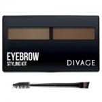 Фото Divage Eyebrow Styling - Набор для моделирования формы бровей № 01, коричневый