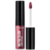 Divage Metal Glam Lipstick - Жидкая губная помада, тон 03, сливовый, 6 мл