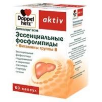 Doppelherz Aktiv - Эссенциальные фосфолипиды и Витамины группы В, в капсулах, 60 шт