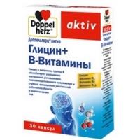 Doppelherz Aktiv - Глицин и В-Витамины 610 мг в капсулах, 30 шт