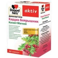 Doppelherz Aktiv - Кардио Боярышник Калий и Магний в капсулах, 60 шт