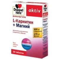 Doppelherz Aktiv - L-карнитин и Магний 1220 мг в таблетках, 30 шт