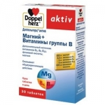 Фото Doppelherz Aktiv - Магний и Витамины группы в таблетках, 30 шт