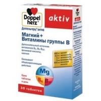 Doppelherz Aktiv - Магний и Витамины группы в таблетках, 30 шт