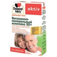 Купить Doppelherz Aktiv - Витаминно-минеральный комплекс 50 плюс 1765 мг в таблетках, 30 шт