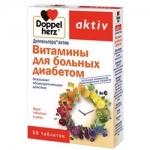 Фото Doppelherz Aktiv - Витамины для больных диабетом в таблетках, 30 шт