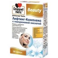 Doppelherz Beauty - Лифтинг-комплекс с гиалуроновой кислотой в капсулах, 30 шт