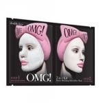 Фото Double Dare OMG! Detox Bubbling Microfiber Mask - Маска двухкомпонентная для глубокого очищения и питания кожи лица, 5 шт