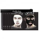 Фото Double Dare OMG! Man In Black Facial Mask Kit - Двухкомпонентный комплекс мужских масок Детокс, упаковка 5 штук