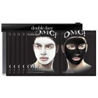 Купить Double Dare OMG! Man In Black Facial Mask Kit - Двухкомпонентный комплекс мужских масок Детокс, упаковка 5 штук