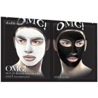 Купить Double Dare OMG! Man In Black Facial Mask Kit - Двухкомпонентный комплекс мужских масок Детокс